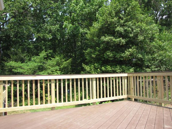 View of the deck looking to the backyard