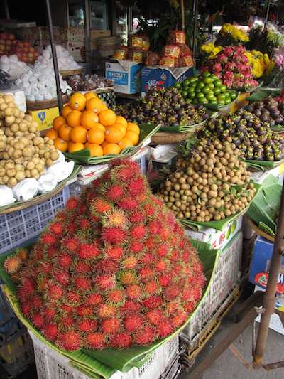photo of fruit for sale at open market