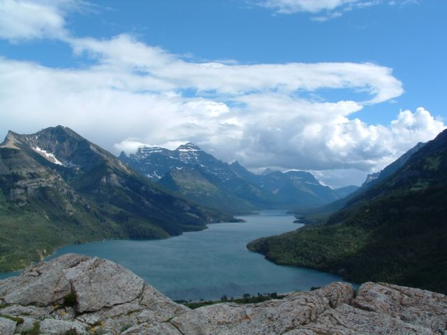 photo with view of Glacier National Park,