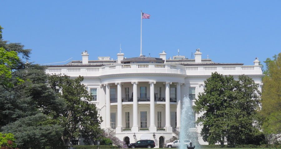 view of the White House, Washington DC